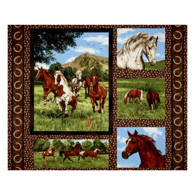 Run Free Horse 35 In Panel Multi Discount Designer