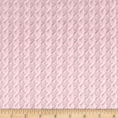 Shannon Minky Embossed Houndstooth Blush