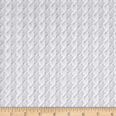 Shannon Minky Embossed Houndstooth Snow