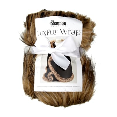 Shannon Luxe Faux Fur Wrap Kit Black