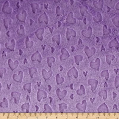 Shannon Minky Embossed Heart Cuddle Lilac
