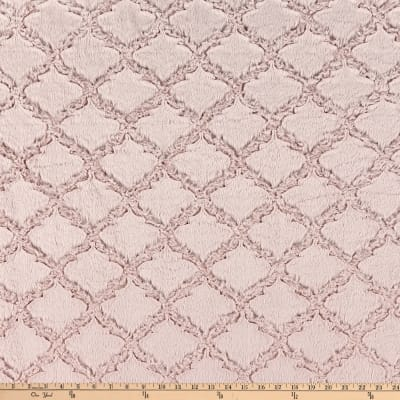 Shannon Minky Luxe Cuddle Lattice Rose Water