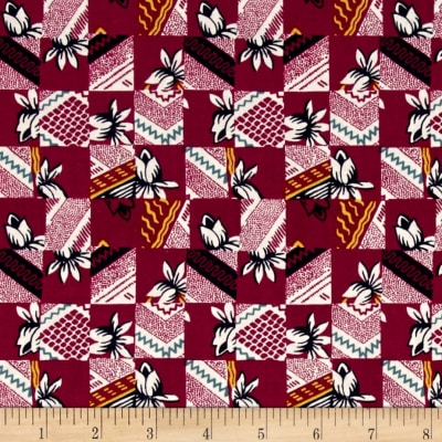 Mary Fons Small Wonders India Floral Patch Dark Pink