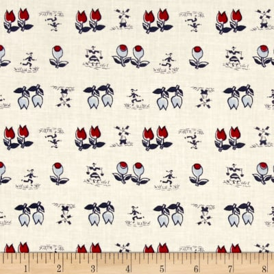 Mary Fons Small Wonders Netherlands Tulips and Windmills Cream