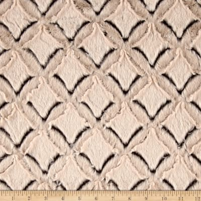 Shannon Minky Luxe Cuddle Frosted Gem Brown/Beige