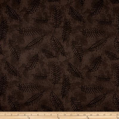 "Westrade 110"" Wide Flannel Quilt Back Fern Smoke"