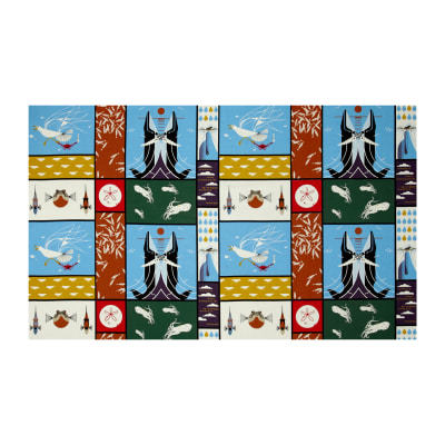 "Birch Organic Charley Harper Maritime 24.5"" Patch Panel Multi"