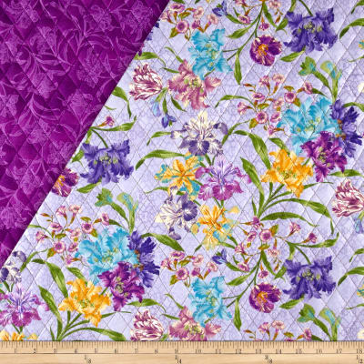 Garden Rendezvous Double Sided Quilted Floral Lavender