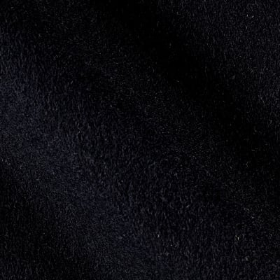 Wool Blend Melton Solid Black