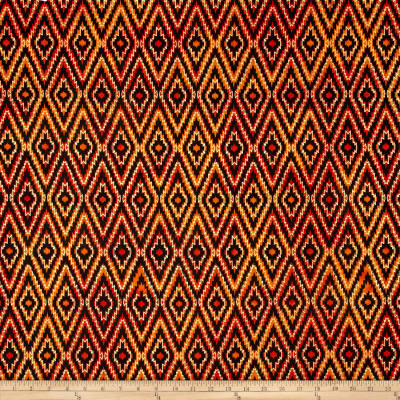 Indian Batik Urban Ethnic Ikat  Orange/Red