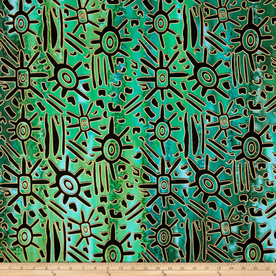 Indian Batik Urban Ethnic Tribal  Green