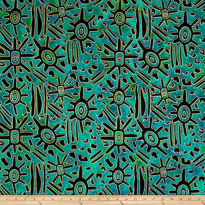 Indian Batik Urban Ethnic Tribal  Blue/Green