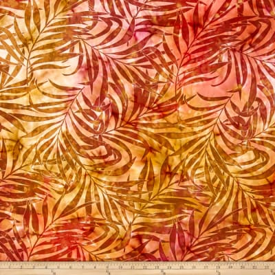Indian Batik Sandy Hook Leaf Orange