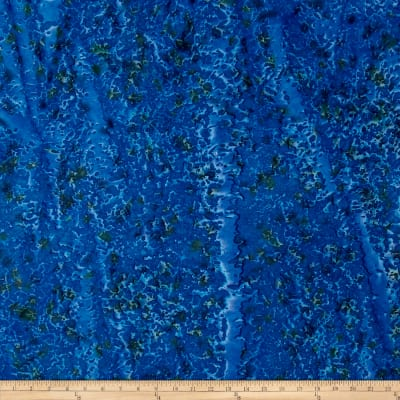 Indian Batik Lava Spray Texture Blue