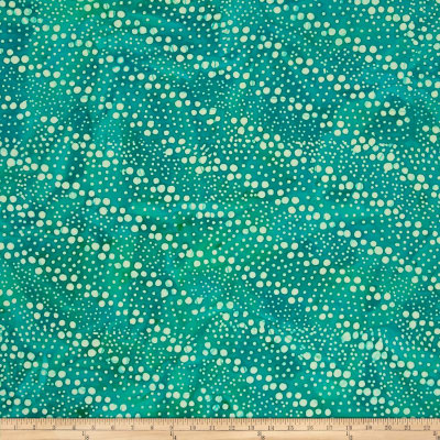 Indian Batik Hollow Ridge Dots Turquoise/Natural