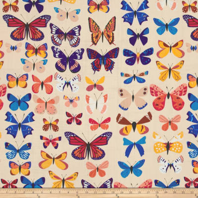 The Hit Parade Double Gauze Butterflies Assorted Natural/Multi