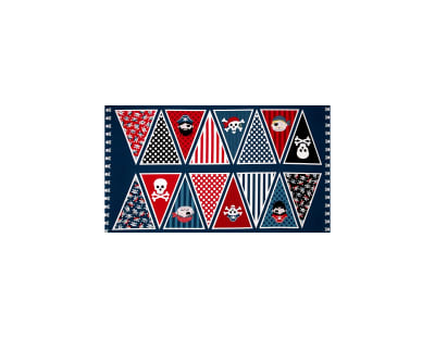 Pirates Pirate 23 In. Panel Bunting Blue
