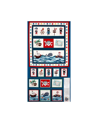 Pirates Pirate Pockets 23 In. Panel Blue