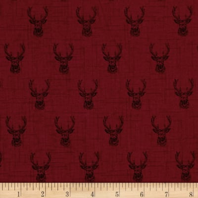 Balmoral Stags Head Red