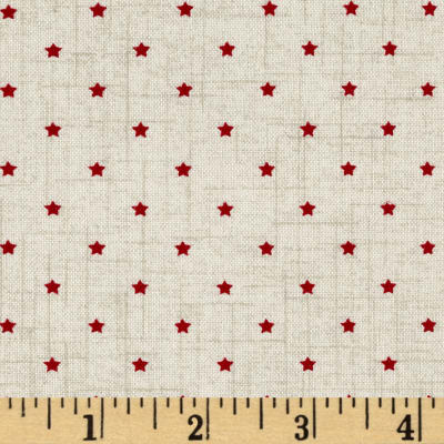 Scandi 3 Mini Star Linen/Red