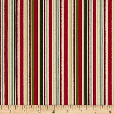 Metallic Christmas Pin Stripe Metallic Multi