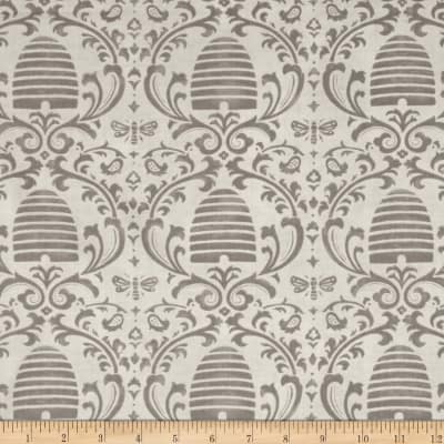 Moda Bee Creative Beehive Damask Dove Grey