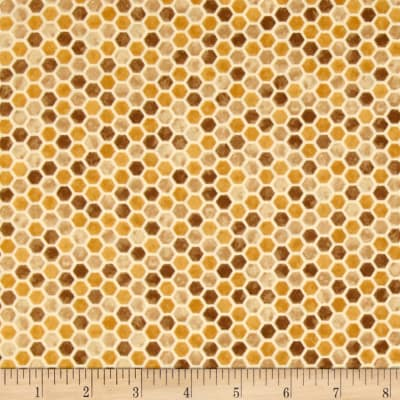 Moda Bee Creative Honeycombs Tonal Honey