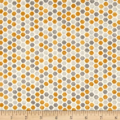 Moda Bee Creative Honeycombs Grey Gold