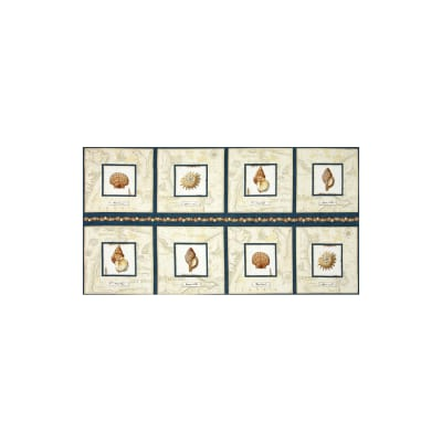 Sea Treasures Shell Picture Patches 23 In. Panel Cream