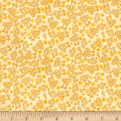 Royal Princess Star & Scroll Yellow