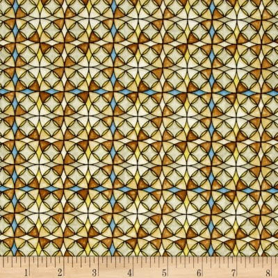 QT Fabrics Heavenly Stained Glass Tan
