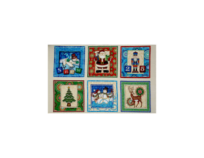 QT Fabrics Santa Coming To Town Christmas Picture Patches 24 In. Panel Multi