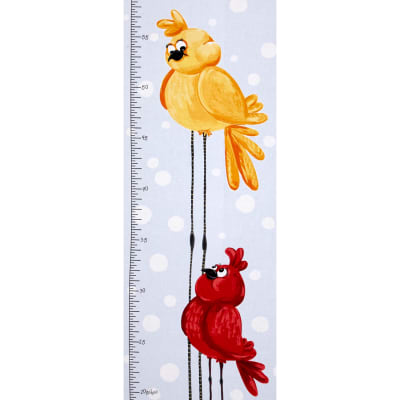 Susybee Bird Growth Chart 15 In. Panel Blue