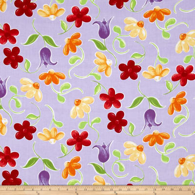 Susybee Bird Large Floral Purple