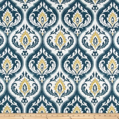 Swavelle/Mill Creek Damask Indigo/Gold