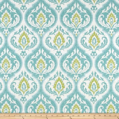 Swavelle/Mill Creek Damask Aqua/Green