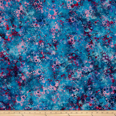 Bali Batiks Handpaints Bubble Dots Cerulean