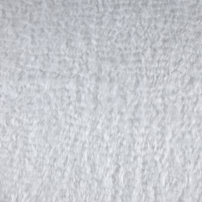 Luxury Faux Fur Wavy Mongolian White
