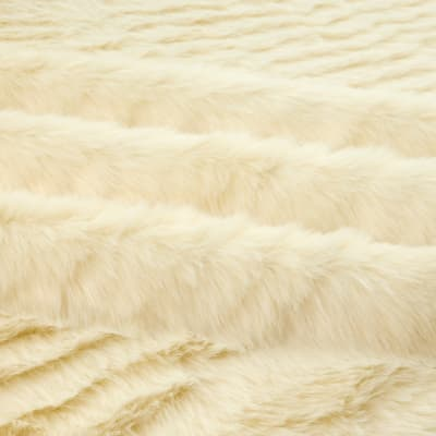 Shannon Lux Fur Solid Mink  Ivory