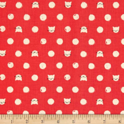 Cotton + Steel Cat Lady Friskers Coral