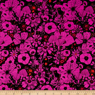 Cotton + Steel Cat Lady Rayon Challis Hiding Spot Purple