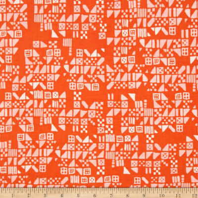 Cotton + Steel Clover Tiny Tiles Persimmon