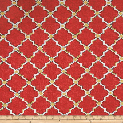 Swavelle Indoor/Outdoor Eaton Screen Red Berry