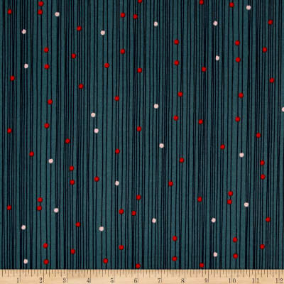 Cotton + Steel Macrame Bead Curtain Deep Sea