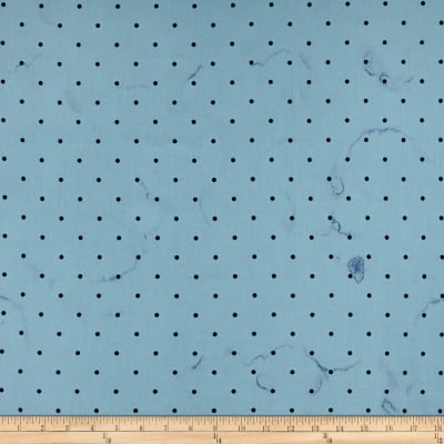 Cotton & Steel Bluebird Tea Stained Dots Blue