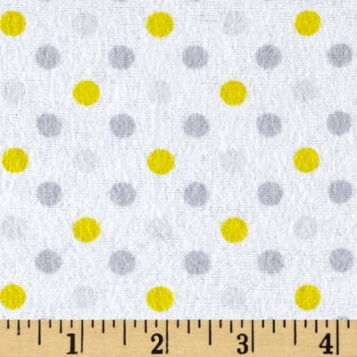 Flannel Dot Party Yellow/Grey