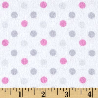 Flannel Dot Party Pink/Grey