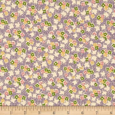Pinafores & Petticoats Multi Floral Ivory/Purple