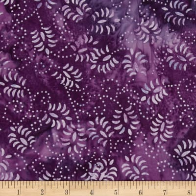 Wilmington Batik Dancing Leaves Plum