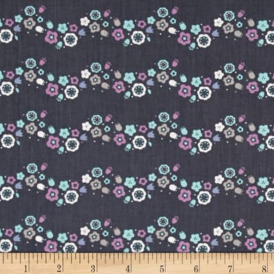 Ethereal Floral Scallops Midnight